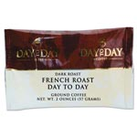 Day to Day Coffee 100% Pure Coffee, French Roast, 2 oz Pack, 42/Carton