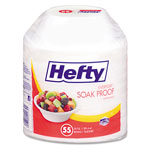 Hefty Soak Proof Tableware, Foam Bowls, 20 oz, 55 Bowls/Pack