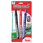 Pentel Handy-line Retractable S-Permanent Markers, Assorted