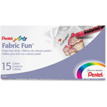 Pentel Assorted Fabric Fun Crayons