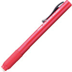 Pentel Grip Pencil Style Eraser, Refillable, Red Barrel
