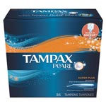 Tampax Pearl Tampons, Super Plus, 36/Box, 6 Box/Carton