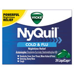 Vicks® NyQuil Cold & Flu Nighttime LiquiCaps, 24/Box, 24 Box/Carton