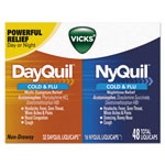Vicks® DayQuil/NyQuil Cold & Flu LiquiCaps Combo Pack, 32 Day/16 Night