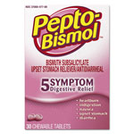 Pepto Bismol™ Chewable Tablets, Original Flavor, 30/Box, 24 Box/Carton