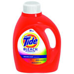 Tide Laundry Detergent with Bleach, Original Scent, Liquid, 2.3 qt. Bottle