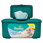 Pampers® Baby Fresh Wipes, Baby Fresh Scent, White, Cotton, 72/Tub, 8 Tub/Carton