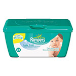 Pampers® Baby Fresh Wipes, White, Cotton, 72/Tub