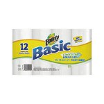 Bounty Basic Paper Towel Rolls 12-Pack
