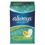 Always® Ultra Thin Pads, Super Long, 40/Pack, 6 Pack/Carton