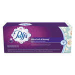 Puffs Facial Tissue, White, 2-Ply, 8.2 x 8.4, 56/Box, 3 Box/Pack, 8 Pack/Carton