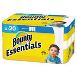Bounty Essentials Select-A-Size Paper Towels, 2-Ply, 104 Sheets/Roll, 12 Rolls/Carton