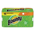 Bounty Paper Towels, 2-Ply, Full-Sheet, 15/CT, White