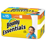 Bounty Paper Towels, Essentials, 2-Ply, Full-Sheet, 12/CT, White