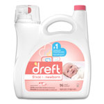 Dreft® Ultra Laundry Detergent, Liquid, Original Scent, 150 oz Bottle, 4/Carton