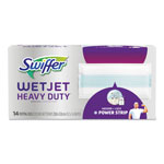 "Swiffer WetJet System Refill Cloths, 11.3"" x 5.4"", Extra Power, White, 14/Box, 4 BX/CT"