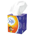 "Puffs Facial Tissue, 2-Ply, White, 8 1/5"" x 8 2/5"", 64/Box"