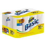 Bounty Basic Paper Towels, 1-Ply, 11 x 11, White