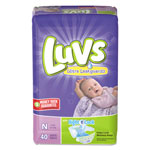 Luvs Diapers w/Leakguard, Newborn: 4 to 10 lbs, 40/Pack, 4 Pack/Carton