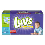 Luvs Diapers w/Leakguard, Size 2: 12 to 18 lbs, 96/Carton