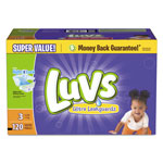 Luvs Diapers w/Leakguard, Size 3: 16 to 28 lbs, 120/Carton
