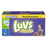 Luvs Diapers w/Leakguard, Size 4: 22 to 37 lbs, 100/Carton