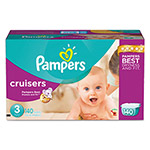 Pampers® Cruisers Diapers, Size 3: 16 - 28 lbs, 140/Carton
