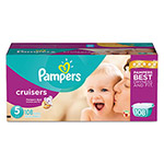 Pampers® Cruisers Diapers, Size 5: 27 - 34 lbs, 108/Carton