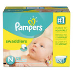 Pampers® Swaddlers Diapers, Newborn: 4 - 10 lbs, 128/Carton