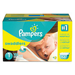 Pampers® Swaddlers Diapers, Size 1: 8 - 14 lbs, 168/Carton