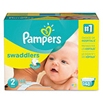 Pampers® Swaddlers Diapers, Size 2: 12 - 18 lbs, 148/Carton