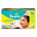 Pampers® Swaddlers Diapers, Size 4: 22 - 37 lbs, 116/Carton