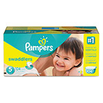 Pampers® Swaddlers Diapers, Size 5: 27 - 34 lbs, 104/Carton