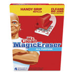 Mr. Clean Magic Eraser Replacement Pads for Handy Grip, 4 3/5 x 3 1/5 White 4/PK, 8 PK/CT