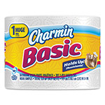 Charmin Basic Big Roll, 1-Ply, 4 x 3.92, 385/Roll, 48/Carton
