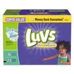 Luvs Diapers w/Leakguard, Size 6: 35 lbs and up, 72/Carton