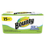 Bounty Perforated Towel Rolls, 2-Ply, White, 11 x 10 2/5, 44/Roll, 15 Roll/Pack