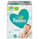 Pampers® Sensitive Baby Wipes, White, Cotton, Unscented, 64/Pack, 9 Pack/Carton