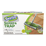 "Swiffer Sweep & Trap System, 10"" x 8"" Head, 46"" Handle, Green/Silver"