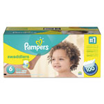 Pampers® Swaddlers Diapers, Size 6: 35 lbs and Up, 100/Carton