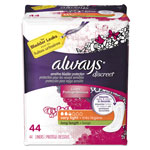 Always® Discreet Sensitive Bladder Protection Liners, Very Light, X-Long,44/Pk,3Pk/Ctn