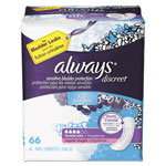 Always® Discreet Sensitive Bladder Protection Pads, Regular, 66/Pack