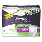 Always® Discreet Incontinence Underwear, Large, Maximum Absorbency, 17/Pack, 3 Pk/Ctn
