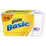 Bounty Basic Paper Towels, 10.19 x 10.98, 1-Ply, 55/Roll, 12 Roll/Pack