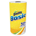 Bounty Basic Paper Towels, 10.19 x 10.98, 1-Ply, 44/Roll