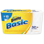 Bounty Basic Select-a-Size Paper Towels, 5 9/10 x 11, 1-Ply, 89/Roll, 8/Pack