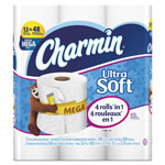 Charmin Ultra Soft Bathroom Tissue, 2-Ply, 4 x 3.92, 308/Roll, 12 Roll/Pack, 4 Pk/Ctn