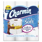 Charmin Ultra Soft Bathroom Tissue, 2-Ply, 4 x 3.92, 308/Roll, 12 Roll/Pack