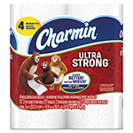 Charmin Ultra Strong Bathroom Tissue, 2-Ply, 4x3.92, 77/Roll, 4 Roll/Pack, 24 Pk/Ctn