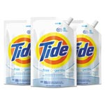 Tide Free & Gentle Laundry Detergent, 48 oz Pouch, 3/Carton